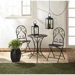 CHIC IRON BISTRO SET- FREE BIRDHOUSE